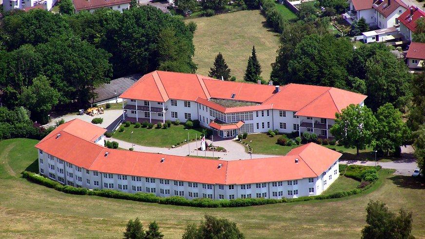 BIZ Mosbach Außenbereich Luftaufnahme