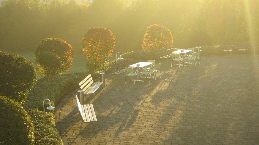 BIZ Mosbach Außenbereich Herbst